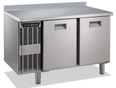 Electrolux 2 Door Refrigerated Counter 265 L Capacity with Rear Splashback