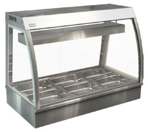 Cossiga CC5BM12 Bain Marie Counter Top Display Cabinet
