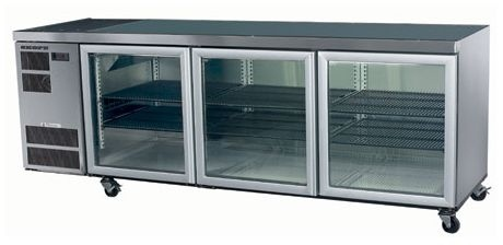 Horizontal Glass Door Kitchen Chillers