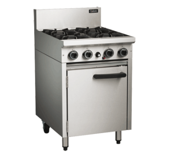 Cobra CR6D 4 Burner Gas Range on Static Gas Oven