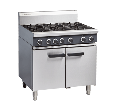 Cobra CR9D 6 Burner Gas Range on Static Gas Oven For September Only $3475 + gst