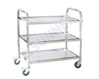Stainless Service Trolley 3 Tier