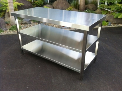 Stainless Steel Prep Benches, Sink Benches & Stainless steel shelving