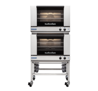Turbofan E27M3/2C Manual Electric Convection Ovens Double Stacked With Castor Base Stand