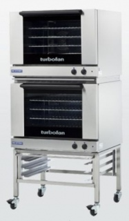 Turbofan E28M4/2 - Full Size Tray Manual Electric Convection Ovens Double Stacked