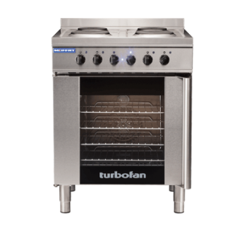 Turbofan E931 4 Hob Electric Range on Electric Convection Oven