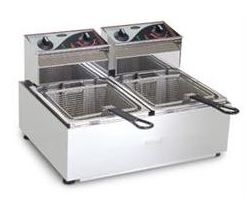 Roband F25 Electric Twin Tank 2 Basket Fryer 10amp
