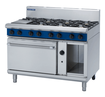 Blue Seal G508D 8 Burner Gas Range on Static Gas Oven