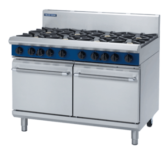 Blue Seal G528D 8 Burner Gas Range with Double Static Gas Oven