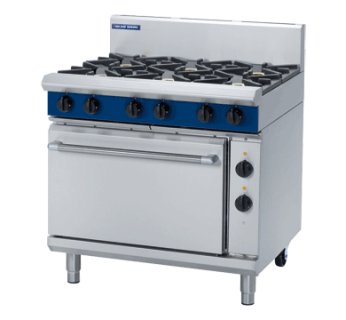 Blue Seal GE506D 6 Burner Gas Range on Static Electric Oven