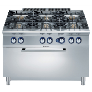 Electrolux 900XP 6 Burner Gas Range on Large Static Gas Oven