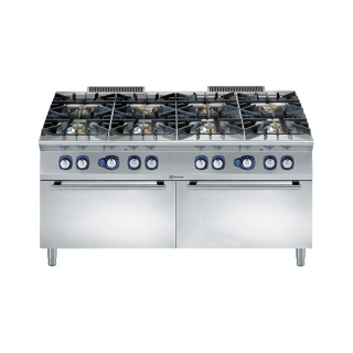 Electrolux 8 Burner Gas Range on 2 Static Gas Ovens