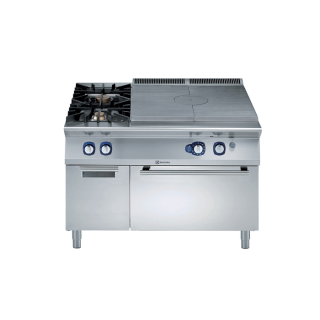 Electrolux 900XP Gas Solid Top on Gas Oven with 2 Burners on cupboard