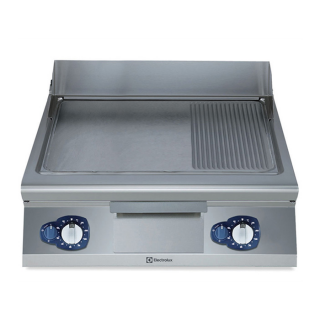 Electrolux 900XP Gas Frytop 2/3 SMOOTH 1/3 Ribbed 800mm