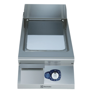 Electrolux 900XP Gas Frytop Smooth Sloped Chromium Plated 400mm
