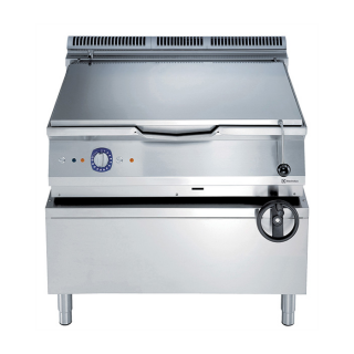 Electrolux 900XP 100 Litre Gas Bratt Pan with Manual Tilt & Mild Steel Cooking Surface